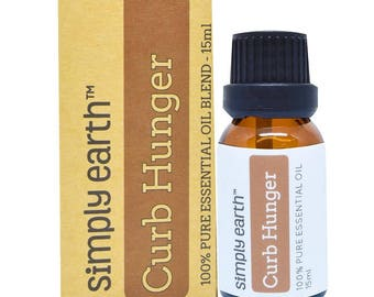 Curb Hunger Essential Oil Blend by Simply Earth - 15ml, 100% Pure Therapeutic Grade