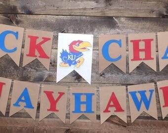 Kansas University | KU Birthday | KU Birthday Party | Jayhawks Birthday party | ku banner | jayhawks banner
