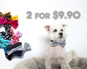2-Pieces Bundle Dog Bow Tie
