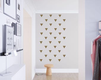 Trendy Triangles Wall Window Craft Vinyl Decal Set