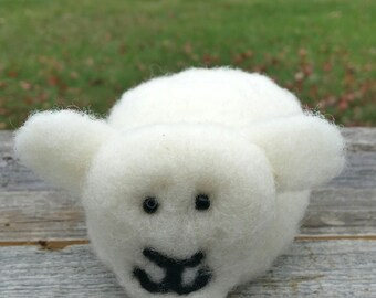 Natural, Needle Felted Sheep