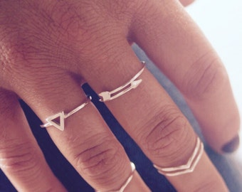 Triangle Ring, Sterling Silver Jewellery, Stacking Ring, Minimalist Jewellery, Statement Ring