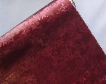 Love Pillow In Oatmeal Linen And Dark Cranberry Maroon Dark