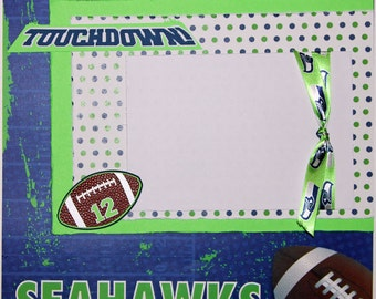 "Premade Scrapbook Page 12 x 12 ""Seahawks"""