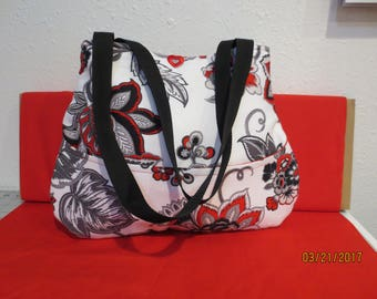 Vibrant Red and Black Hobo Style Handbag
