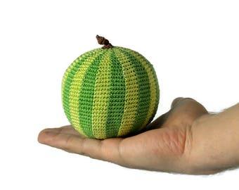 1 Pcs - Crochet watermelon/teether teeth/Amigurumi kitchen play set/play food/kitchen decoration/crocheted vegetables/educationtoys