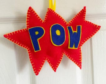 Comic ornament 'POW'