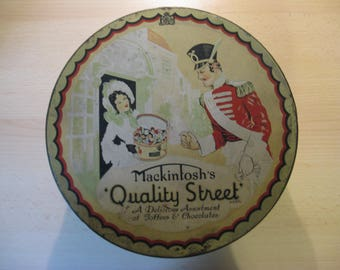 An old English tin Mackintosh Quality Street, 30's ...