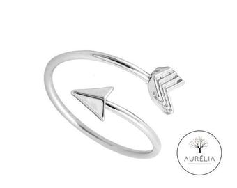 """Silver plated ring """"Arrow"""" adjustable"""