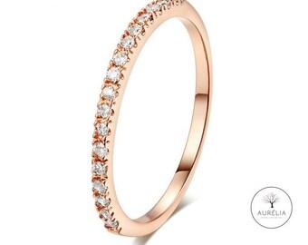 "Rosé gold ring ""circle pave' Gr. 52"