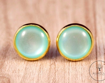 "Earrings ""Creativity"" Color Turquoise Mint"