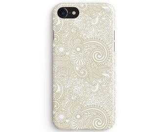 Paisley cream swirls - iPhone 7 case, Samsung Galaxy S7 case, iPhone 6, iPhone 7 plus, iPhone SE, iPhone 5S, 1C015B