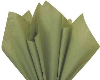 Green  Tissue Paper, Solid Green  Tissue Paper, 10 large sheets, Rustic weddings,  gift wrap