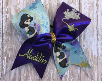 Aladdin Inspired Cheer Bow