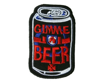 Can Embroidered Applique Iron on Patch 4.8 cm. x 7.6 cm.