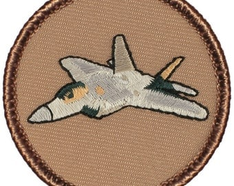 F-22 Raptor Patch (188) 2 Inch Diameter Embroidered Patch