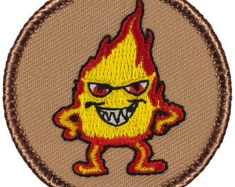 Pyro Patch (394) 2 Inch Diameter Embroidered Patch