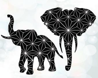 Elephants silhouette SVG -  Elephant SVG for Cricut - Animal Clipart - Cricut Cut Files - Silhouette Cutting Files - Vector Cut File