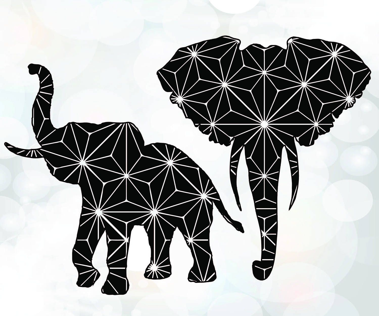 Download Elephants silhouette SVG - Elephant SVG for Cricut ...