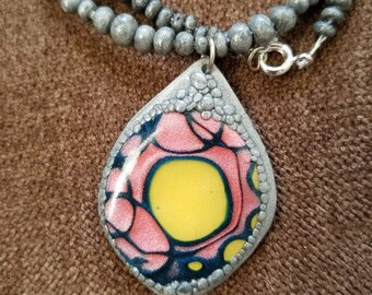 Abstract Dragon Eye  Necklace