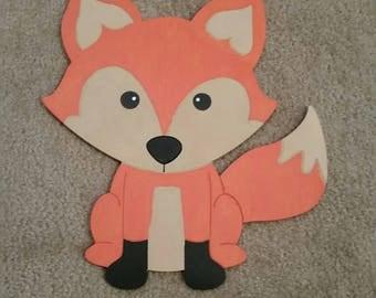 Friendly Fox door hanger/wall decor
