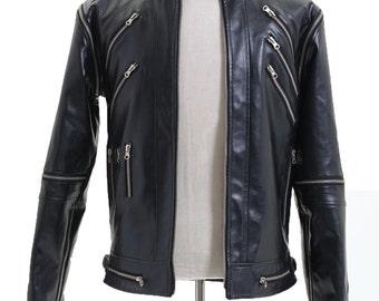 Beat It Black Pleather Jacket Costumes