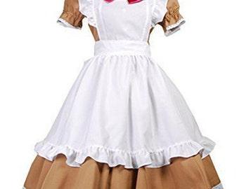 Axis Power Hetalia Italy Maid Uniform Anime Cosplay Costumes