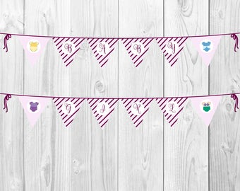 Disney Princess Baby Shower Bunting Banner