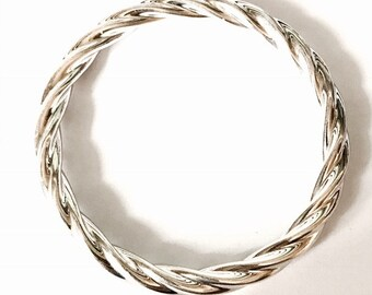 Sterling Silver Twisted Bangle.