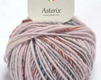 Asterix Chunky wool/alpaca/acrylic/nylon knitting yarn (Col. 072-003 dusky pink base) by Adriafil in 50g balls