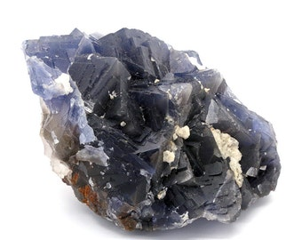Deep Blue Fluorite Crystal Cluster – 687g