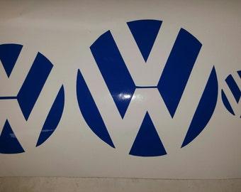 VW Emblem Inlay Decals