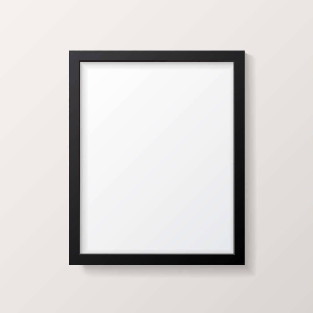 frame mockup black picture frame poster mock up vertical poster template - Empty Frame