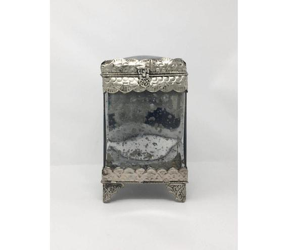 Very best Mercury Glass. Mercury Glass Cube Vase With Mercury Glass. Elegant  VS19
