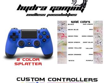 Custom PS4 Controller Dualshock 4 Splatter Controller
