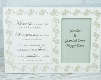 Memories Photo Frame Personalised Memories Are More Than Just A Link To The Past 4x6 F1647/P