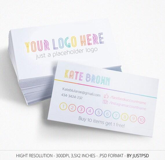 Minimal Lula Punch Cards, Free Customize, Branding, Buy 10 Get 1 Free ...