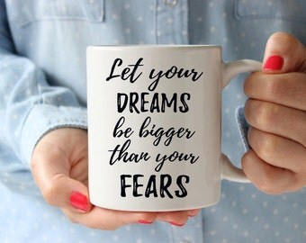 Inspirational mug, gift for goddaughter, gift for godson, inspirational gift for her, inspirational quote, christmas gift for best friend