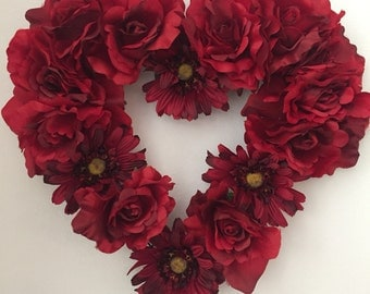 Valentine's Day Flower Wreath