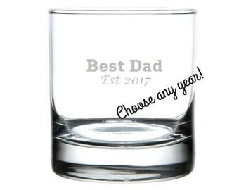 New Dad Gift - Gifts for Dad - Dad Gifts - Dad gifts from daughter - First Father's Day Gift - Father's Day Gift - Best Dad Glass - Present