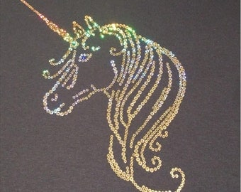 Unicorn Sequins Shirt Adult / Youth sizes