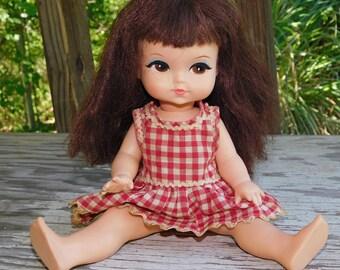 Vintage 1965 Royal Joy Big Cat Eyed Doll