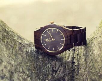 Fashion Handmade Wood Wrist watch Ebony SALE!