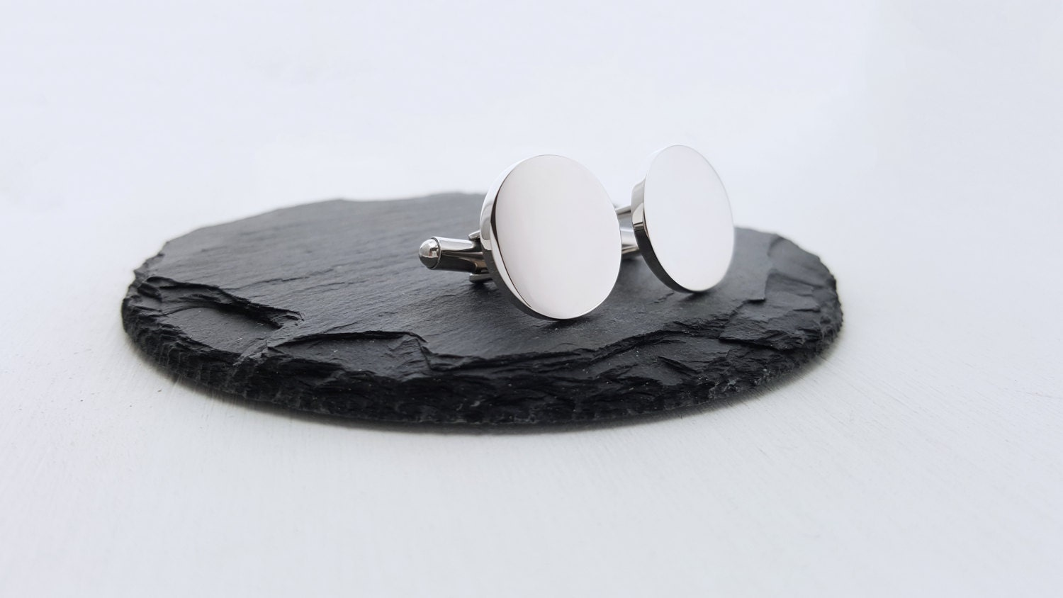 Personalized Cufflinks Engraved Cufflinks Round Non Traditional