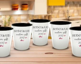 Bridesmaid Gifts Cheap, Bridesmaid Gift, Custom shot glasses, Personalized Gift For Her, Wedding Gifts, Made Of Honor Mug, Bridesmaid Mug