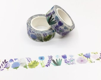 Purple Floral Washi Tape