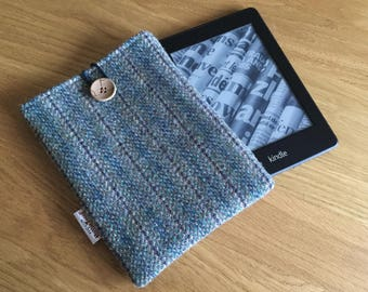 Harris Tweed Kindle cover - Kindle paperwhite case - e-reader cover - Father's Day gift - Wool Anniversary - Kindle sleeve - gift for him