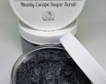 mens sugar scrub, manly sugar scrub, emulsified sugar scrub, sugar scrub for me