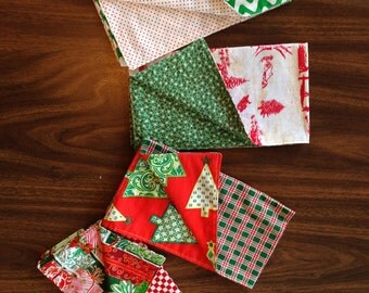 Funky, fun, double-sided holiday napkins