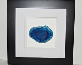black frame 10x10 eye catching framed agate art geode drusy agate home dcor